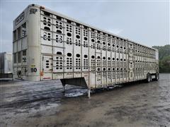 2008 Wilson PSDCL-402P 53' T/A Aluminum Hog Pot Livestock Trailer