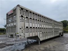 2008 EBY 53' T/A Aluminum Hog Pot Livestock Trailer