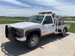 1997 GMC 3500 Dually Pickup W/Fire Extinguishing Unit