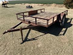 Shop Built Tilt Bed Utility Trailer