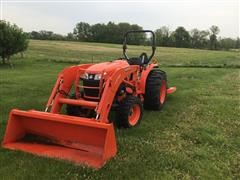 2016 Kubota 4701 MFWD Tractor W/Loader & Mower
