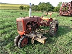 1941 Allis-Chalmers C 2WD Tractor W/Woods Belly Mower