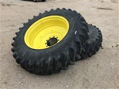 Firestone 18.4R38 Tractor Duals On Titan Rims