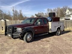 2007 Ford F450 Extended Cab Dually Service Truck W/Mechanic's Crane