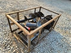 2021 Mower King SSECAG-Y Post Hole Auger Skid Steer Attachment