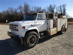 1990 GMC 7000 Service Truck W/Hydraulics, Air Compressor, Generator & Fuel Tank
