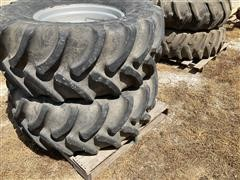 Firestone Radial 9000 480/65R24 Tires And Rims