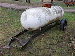 1966 Trinity 500-Gallon Steel Propane Tank On Cart