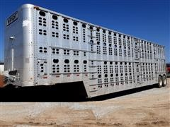 1991 Wilson PSDCL-302 T/A Cattle Pot Livestock Trailer