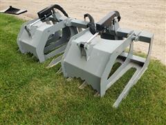 "Hawz 72"" Root/Brush Grapple Skid Steer Attachment"