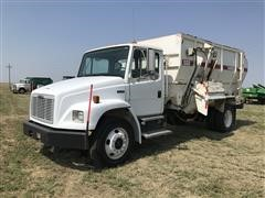 1999 Freightliner FL70 S/A Feed Truck W/Harsh Mixer Box