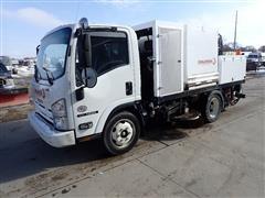 2010 Isuzu NRR S/A Truck W/2012 Challenger Street Sweeper