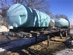 1988 Fontaine FTW-3-8048A Trailer & Poly Tanks