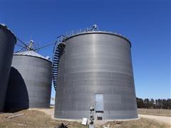 2010 Brock 28,878 Bushel Grain Bin W/Channel-Lock Aeration Floor Auger