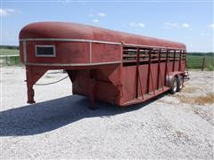 Homemade 20' T/A Gooseneck Livestock Trailer