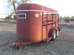 1992 W-W Bumper Hitch 5'x14' T/A Enclosed Livestock Trailer