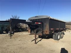 2008 Specially Constructed 15' Hopper Custom T/A Gooseneck Grain Trailer