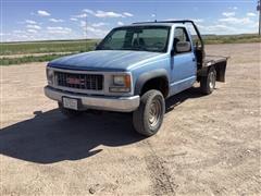 1996 GMC Sierra K3500 4x4 Flatbed Pickup