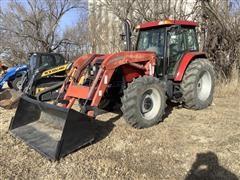 2005 Case IH MXM130 MFWD Tractor W/Loader