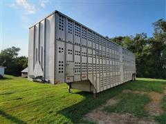1977 Merritt T/A Aluminum Livestock Trailer