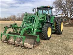 2001 John Deere 7810 MFWD Tractor W/740 Loader
