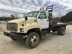 1997 GMC C7500 S/A Flatbed Dump Truck