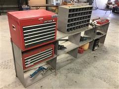 Craftsman Tool Chests W/Tools, 20MM Socket Drive Set, B&D Metal Shear