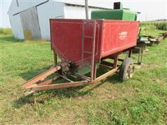 Snowco Shop Built Small Seed Broadcast Seeder On Trailer