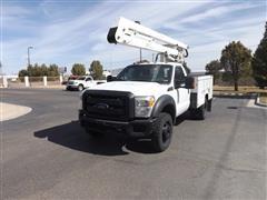2014 Ford F450 4x4 Truck W/bucket Lift