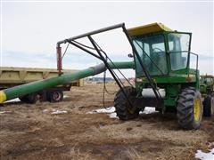 John Deere 5400 Bunk Blower Mounted On Tractor