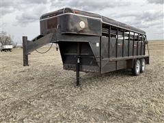 1993 Coose 6 X 16' Gooseneck T/A Livestock Trailer