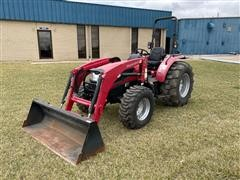 2015 Mahindra 3550 PST 4WD Compact Utility Tractor W/Loader