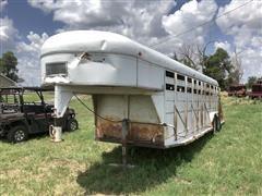 1980 Circle C 24' T/A Steel Livestock Trailer