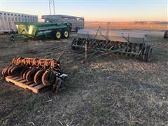 John Deere B Grain Drill W/Press Wheels