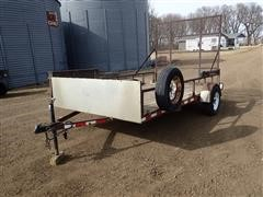 "2005 Krem 80""X12' S/A Trailer W/Side & Rear Ramps"
