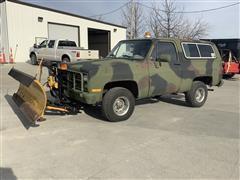 1985 Chevrolet D10 Military Custom Deluxe 4x4 Blazer W/Blade