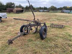 John Deere 2 Bottom Plow W/Harrow Section