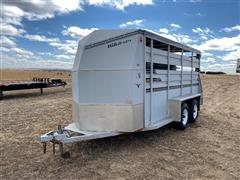 1991 Hillsboro T/A Livestock Bumper Pull Trailer