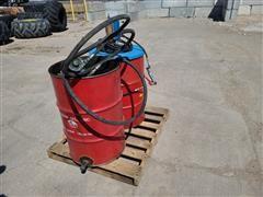 Oil/Grease Barrels W/Pumps