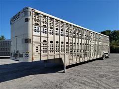 2006 Wilson PSDCL-402P 53' T/A Aluminum Hog Pot Livestock Trailer