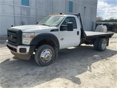 2012 Ford F550 Super Duty 2WD Flatbed Truck
