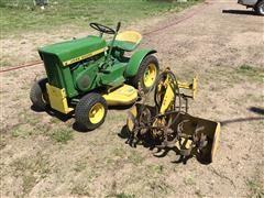 John Deere 110 Lawn Tractor And Tiller