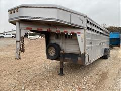 "2002 Titan 6'8"" X 24' T/A Classic Gooseneck Livestock Trailer"