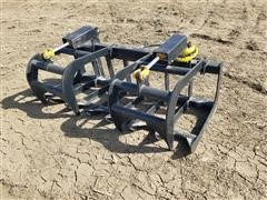 2020 Mid-State Brush Grapple Skid Steer Attachment