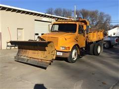 1991 International 4600 S/A Dump Truck W/Snow Plow