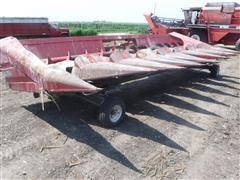 "White 708N 8R30"" Corn Header & Trailer"