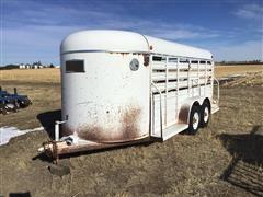 1993 W-W 16' T/A Bumper Pull Livestock Trailer
