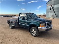 1999 Ford F350 4x4 DRW Flatbed Pickup
