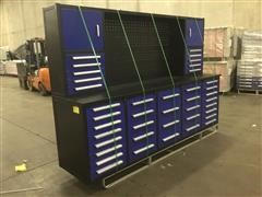 """2021 Suihe 75"""" 40 Drawer Blue Work Bench W/uppers"""