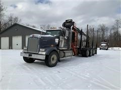 2016 Kenworth W900 Tri/A Log Truck W/Serco Loader